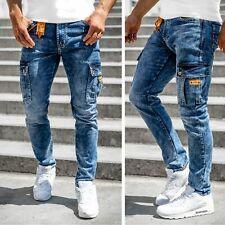 Jeans Hose Freizeithose Denim Cargo Classic Sport Slim Fit Herren Mix BOLF Motiv