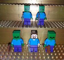 Lego Minecraft Figuren. Zombies, Steve, Minifig 21113, 21119, 21123, 21118 X1