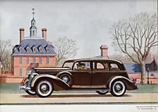 Print. Brown 1936 Lincoln 5 Passenger Sedan Automobile