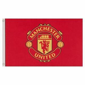 Manchester United Official Flag 5ft X 3ft Large Red Banner152cmX91cm Man Utd