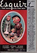 1937 Esquire October - F Scott Fitzgerald; Cockfighting; Dos Passos; Miller Art