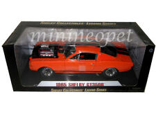 COLLECTIBLES 514 1965 SHELBY MUSTANG GT 350R 1/18 ORANGE with RACE ENGINE