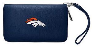 Denver Broncos  Ladies Wallet Clutch Zip Organizer NEW FREE SHIPPING