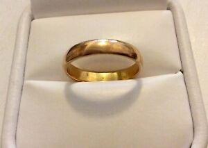 Nice Early Vintage Solid 22 Carat Gold Wedding Ring - Wedding Band / P - P 1/2