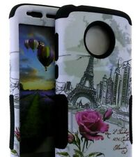 Motorola Moto E5 Play / E5 Cruise - Hybrid Armor Case Paris Eiffel Tower Flower