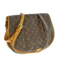 LOUIS VUITTON M40473 Monogram Brown Menilmontant MM Shoulder Bag Used