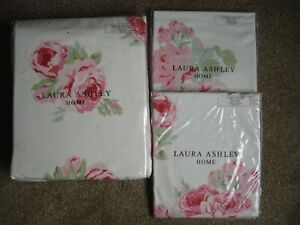 Laura Ashley Couture Rose SUPER KING SIZE Duvet Cover + 2 Oxford Pillowcases