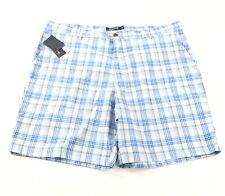 Chaps Golf 78 Shorts Men's Size 42 Blue Plaid Flat Front Shorts NWT