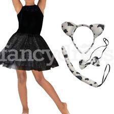 FATTORIA Animali Nero e Bianco Mucca Pelliccia Sintetica orecchie e coda INSTANT FANCY DRESS