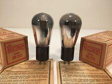 2 Vintage NOS 1925 RCA Radiotron Rectron UX-213 80 Globe Radio Amp Tube Pair #1