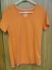 Time and Tru Women's Orange Short Sleeve Tee Shirt Size Small 4-6