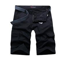 Mens Cargos Half Pants Pockets Trousers Summer Shorts Casual Work 100% Cotton Sz
