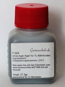 Aussaatmedium P668 für Orchideen. Ausreichend für 1 Liter Medium. Ohne Agar Agar