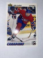 John LeClair 1991-92 Upper Deck  Rookie RC Card #345