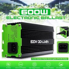 600W Electronic Ballast for Garden Planter Grow Lights HPS MH Bulbs 220V-240V