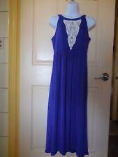 Soma High Low Hem Midi Sleeveless JEWEL BLUE LARGE DRESSES NEW R $69.00