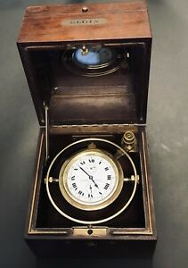 SERVICED USSB Father Time Veritas Grade 367 Elgin Marine Chronometer Freesprung