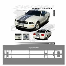 Ford Mustang 2005 to 2009 Bumper to Bumper Stripes Graphic Kit - Bright White