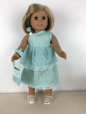 """Doll Clothes fits 18"""" American Girl  Top Skirt with shoes and purse 003"""