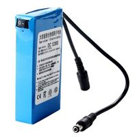 Blue Portable Super Power DC 12V Rechargeable 3000mAh Li-ion Battery Pack VV