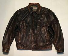 Vintage Levi's Leather Trucker Jacket - XL