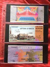 Lotto Biglietto Lotteria MONZA + VENEZIA + MERANO 1983 usati