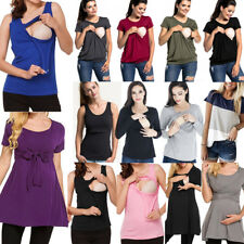 Pregnant Womens Maternity Tops Nursing Blouse T Shirt Breastfeeding Vest Top Lot