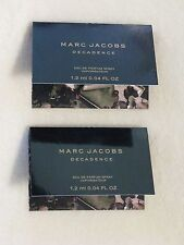 Marc Jacobs 'Decadence' EDP Perfume Spray Set of 2 Sample Bottles NEW
