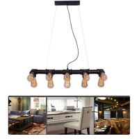 Water Pipe Chandelier Industrial Vintage Pendant Light Ceiling Lamp Fixture New