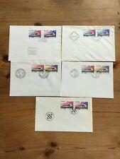 5 Belege/Briefe Gemeinschaftsausgabe Dänemark, Norge, Sverige, Finnland, Island