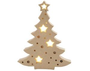 27cm Light Up Paper Mache Christmas Tree to Decorate | Christmas Papier Mache