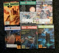 Fantasy &  Science Fiction Magazine-lot of 6 issues