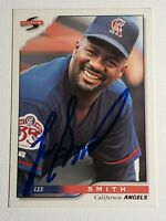 1996 Score Lee Smith Autograph Card Signed Angels Cubs Red Sox Orioles Auto HOF