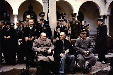 Winston Churchill President FDR Joseph Stalin Yalta Post WW II - Modern Postcard