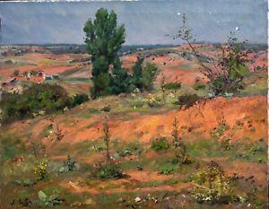 Large Early 20th Century Spanish Landscape Near Barcelona Juan Soler Puig