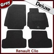 RENAULT Clio 2005 2006 2007 2008 2009 1300g di Lusso Su Misura Tappetini Auto Grigio