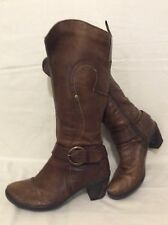 John Lewis Brown Knee High Leather Boots Size 39
