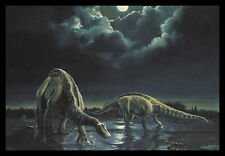 14-021-Msa Dinosaur Prehistoric 'Apatosaurus' 1992 Postcard New