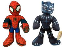 "Spiderman & Black Panther Plush Stuffed Animal Doll SET Toy Gift Kids Marvel 14"""