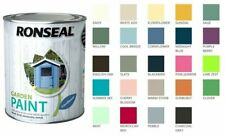 2.5 Litres Ronseal Garden Paint Brick Terracotta Wood Metal 24 Colours Next Day