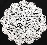"""Handcrochet 12"""" 31cm white vintage lace doilie doily doiley round"""