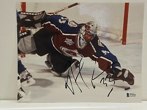 SIGNED COLORADO AVALANCHE PATRICK ROY 8x10 PHOTO TOP100 HHOF BSA BECKETT 3