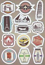 Sticker Decal Sticker Set Travel Mix Laptop, Suitcase, Stickerbomb (M1802)