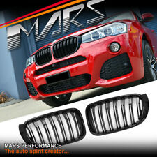 Gloss Black M Style Front Bumper Kidney Grille Grill for BMW X3 F25 LCI & X4 F26