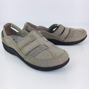 CLARKS CLOUDSTEPPERS SILLIAN Stork Women's Size 8.5 Flats Loafers Sand Beige