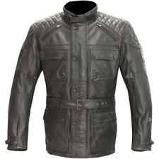 Belstaff Merlin Hatton Waterproof Leather Black Motorcycle Jacket - Size 40