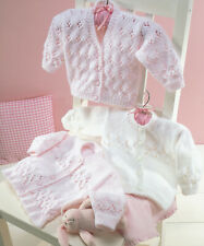 """KNITTING Pattern-Baby Cardigans-3 styles to knit in DK- fits chest 16-26"""" 0-6yrs"""