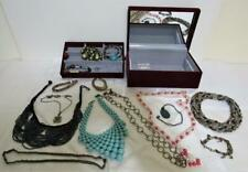 Jewelry Treasure Chest Box lots of Necklaces & Bracelets Estate collection lot !