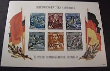 Germany DR  Souvenir Sheet Scott# 264a Engels  MNH 1955  C365