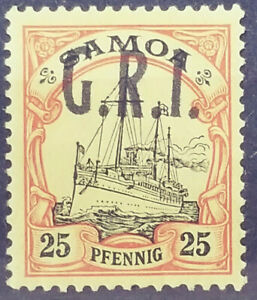 German Samoa MNH British GRI Occupation Rare Error Signed BPP # 01